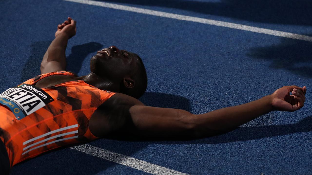17-year-old Edward Nketia is the Australian 100m champion.