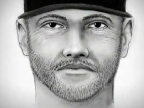 An artist's impression of Joshua Gonzalez who is charged with killing 10 — year-old Summerbell Brown in a road rage incident. Picture: Supplied