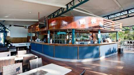 The restaurant/bar at the Cape Gloucester Beach Resort