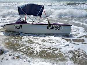 Mystery vessel at Bucasia Beach
