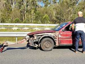 Truck and car crash slows holiday traffic on Bruce Hwy