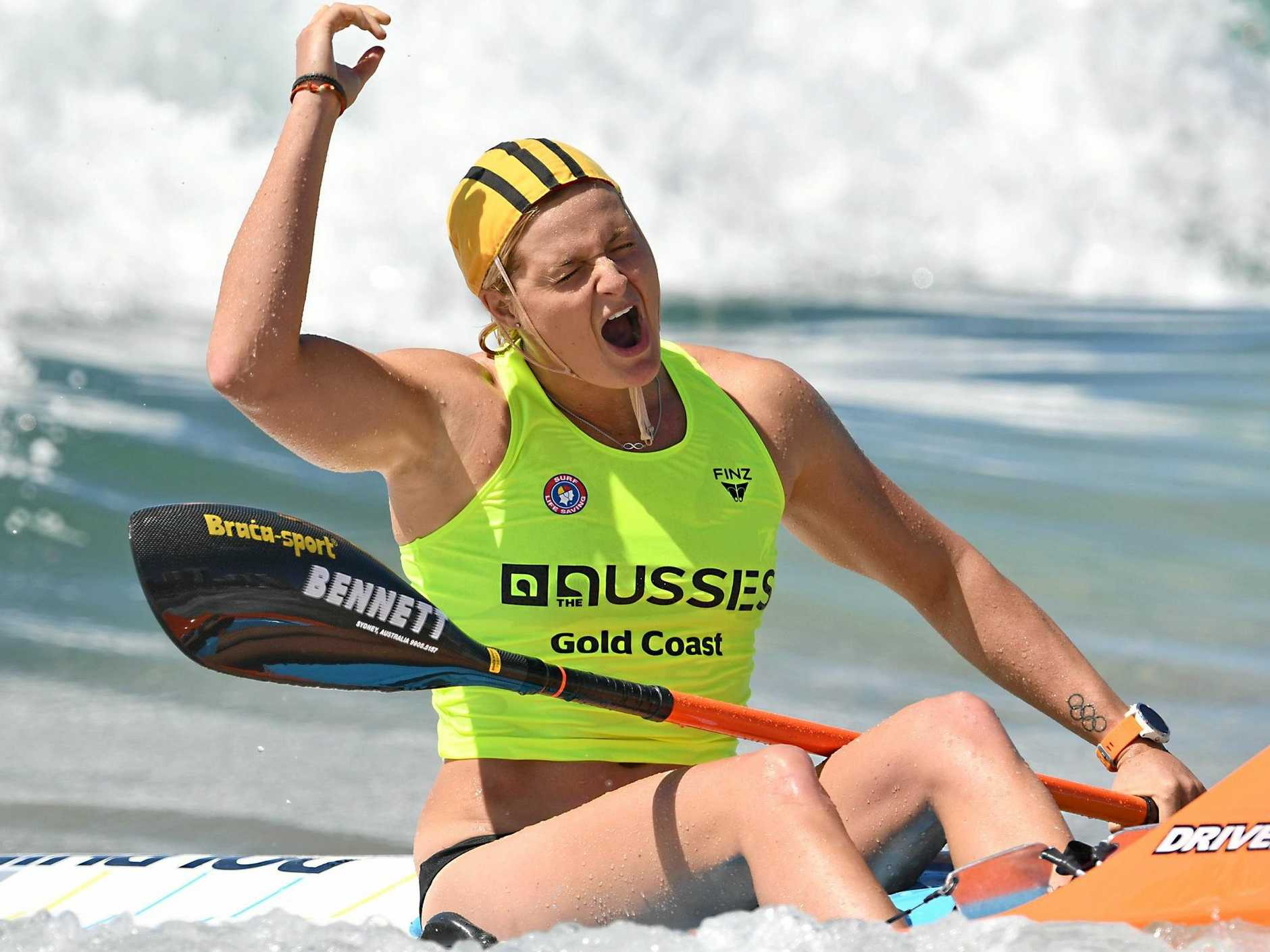 BIG HAUL: Alexandra Headland athlete Alyssa Bull won four gold medals during the Australian Surf Life Saving Championships on the weekend.