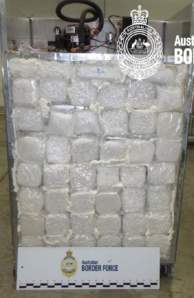 The drugs were simply placed in the back of the fridges. Picture: ABF