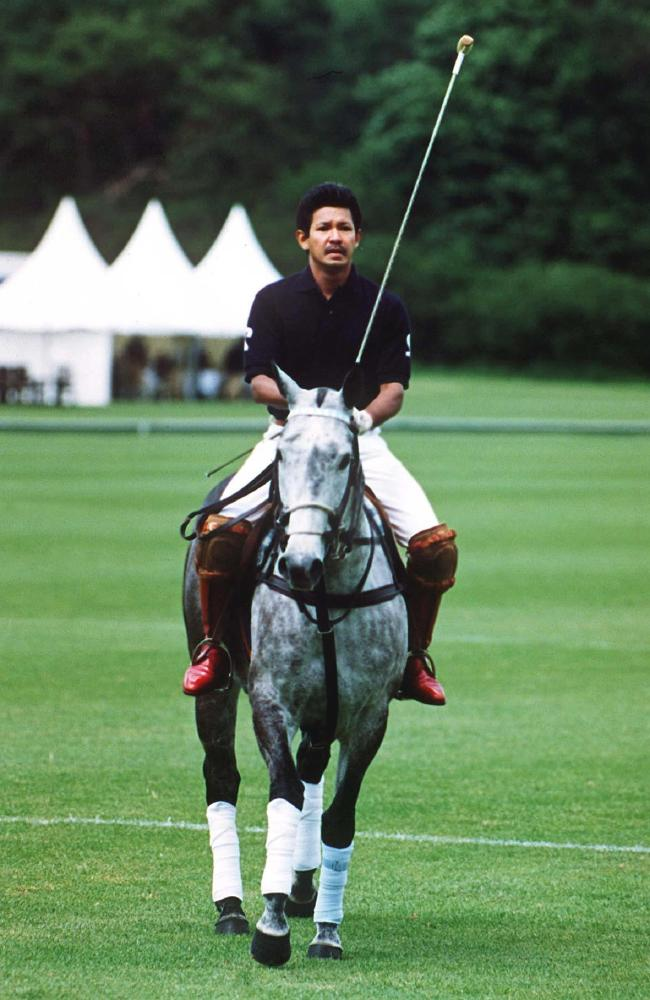 The polo playing playboy Prince Jefri in Cirencester, UK in 1997. Picture: David Hartley/REX.