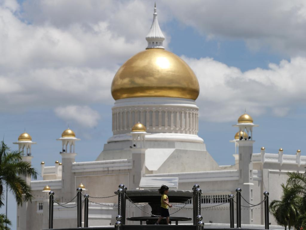 Sultan Omar Ali Saifuddien Mosque, one of 118 in the tiny oil rich state of Brunei.Picture: Vincent Thian.