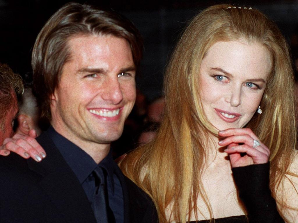 Nicole Kidman and Tom Cruise a year before they split. Picture: Supplied