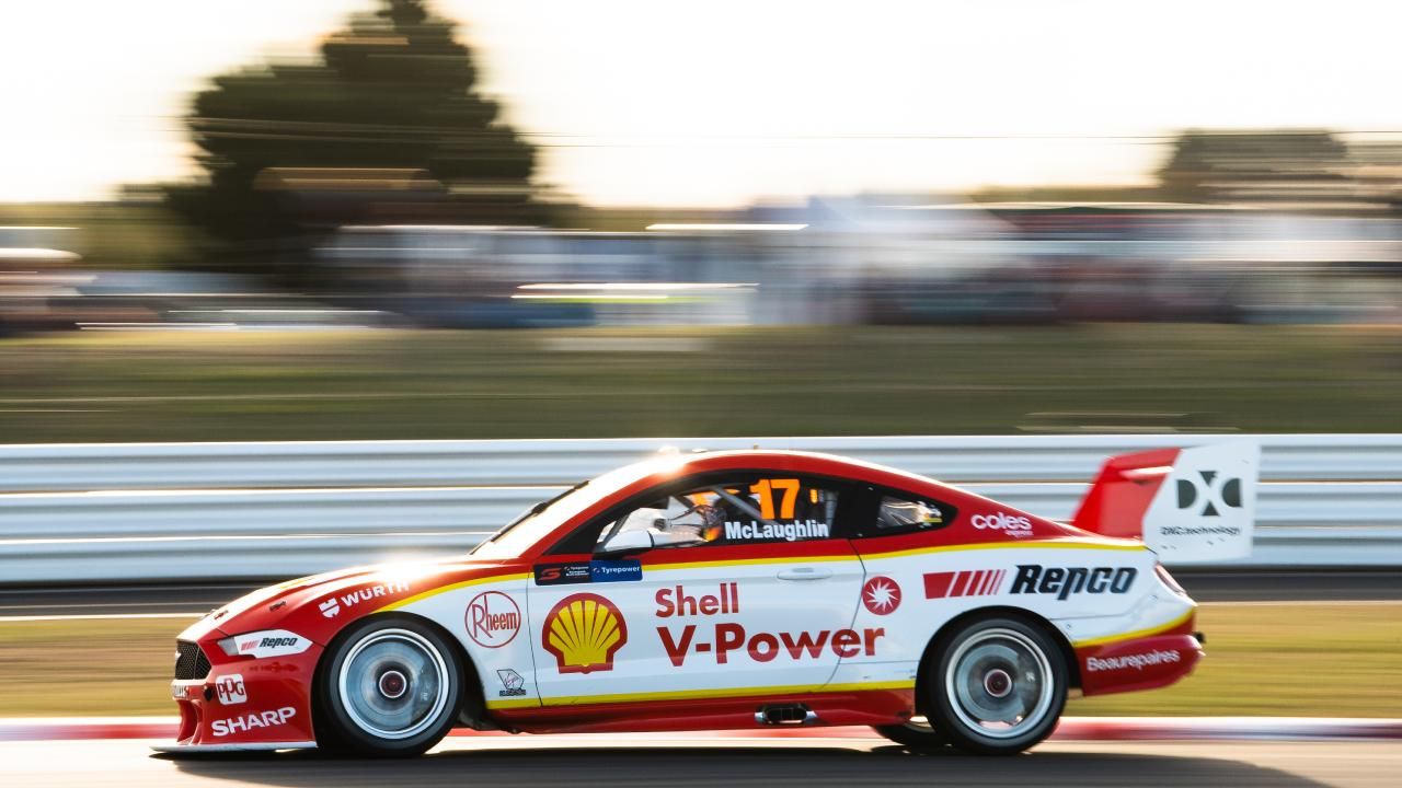 Scott McLaughlin drives the #17 Shell V-Power Racing Team Ford Mustang during the Tasmania SuperSprint Supercars Championship Round at Symmons Plains Raceway. Picture: Daniel Kalisz/Getty Images