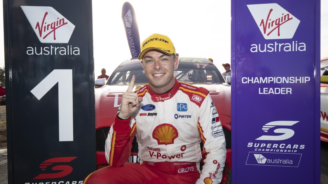 Scott McLaughlin continues to set the pace at the Tasmania SuperSprint. (AAP Image/Mark Horsburgh)