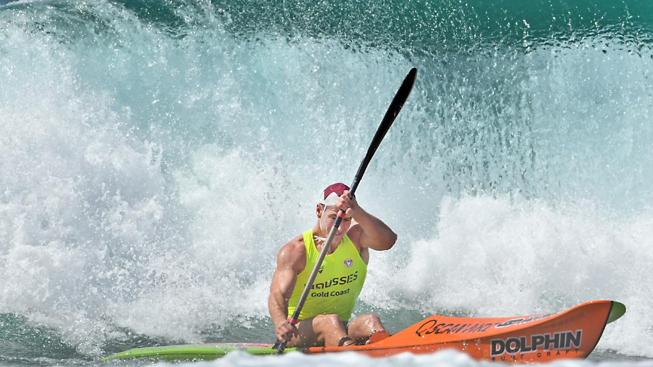 Shannon Eckstein competed in the Australian Surf Life Saving Championships but couldn't get that last win of his career. Picture: HarvPix