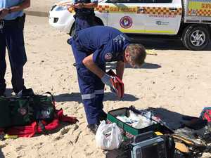 Man flown to hospital after beach incident