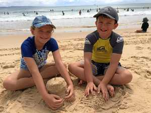 Easter holidays kick off on Noosa Beach
