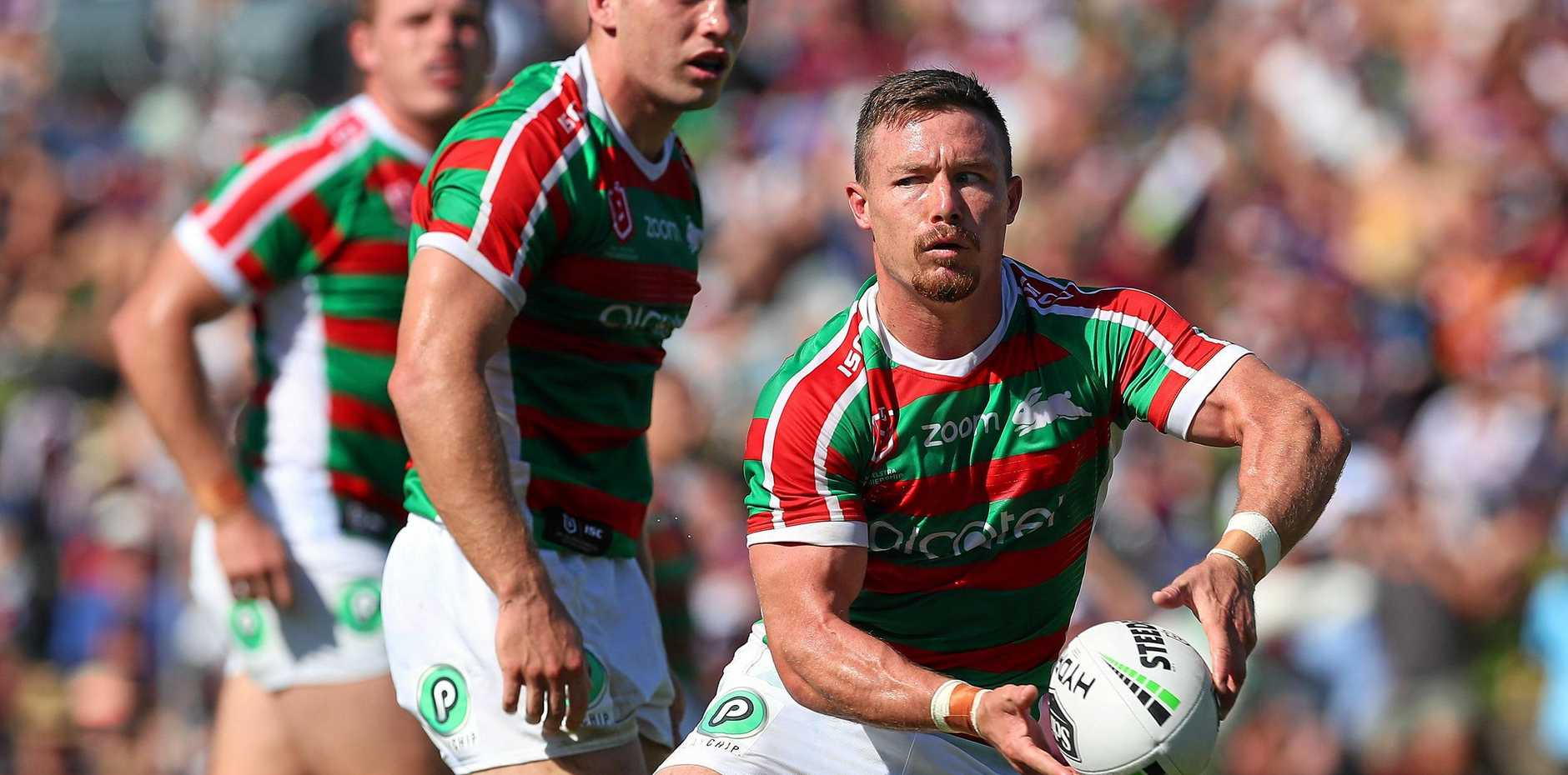 IN ACTION: Damien Cook of the Rabbitohs against Manly Sea Eagles at Lottoland on Sunday.