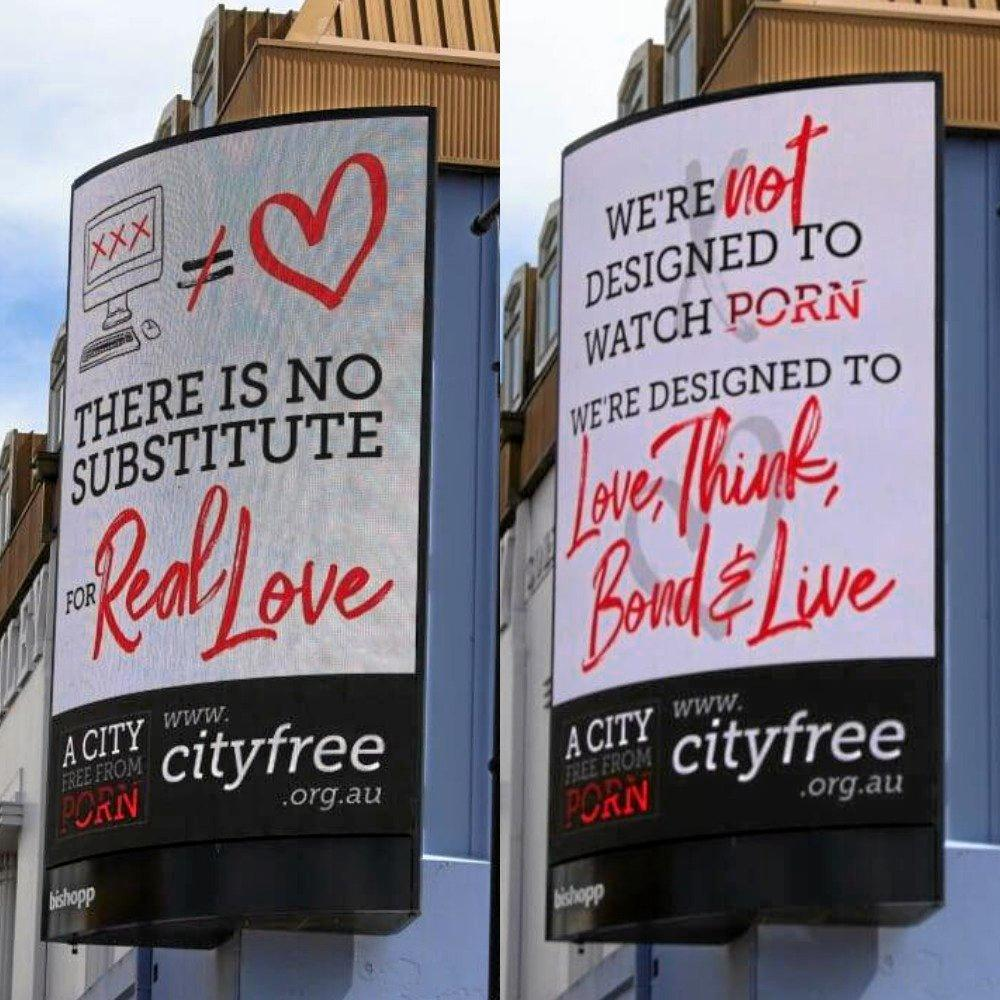 CAMPAIGN GROUP: The latest billboards from A City Free From Porn.
