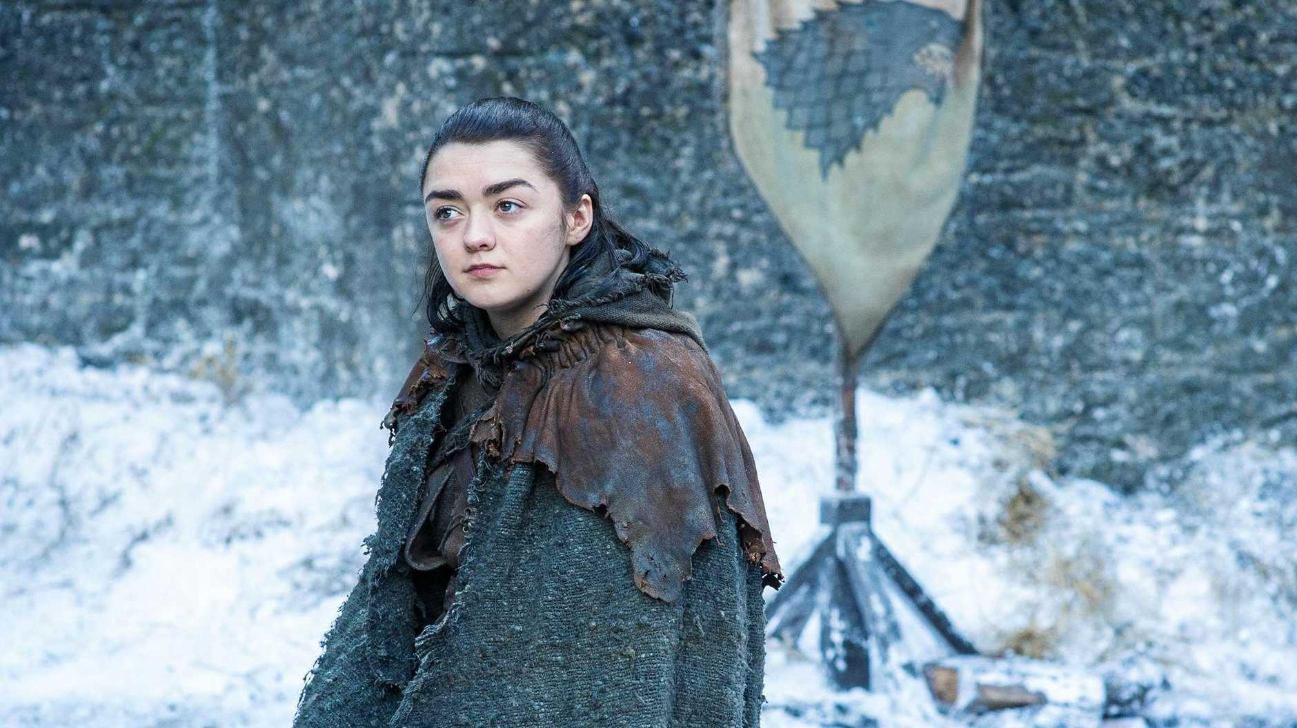 Maisie Williams returns as Arya Stark in the final season of Game of Thrones.