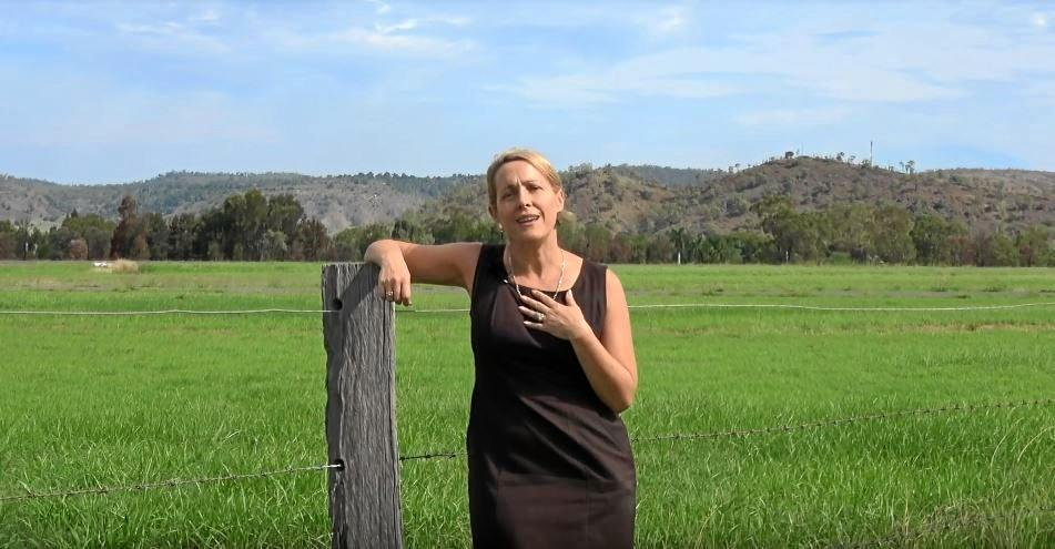 ADVOCATE: A still of Mayor Rachel Chambers' recently released YouTube video, 'Advocating for the North Burnett'.