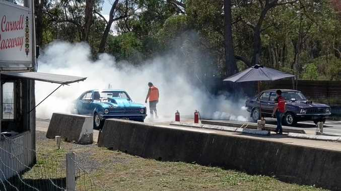 SMOKED UP: Carnell Drags Stanthorpe were burning up the pavement on the weekend. Photo Jamie Zamprogno