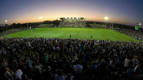 HUGE CROWD: More than 10,000 people turned out to Saturday's NRL pre-season trial.