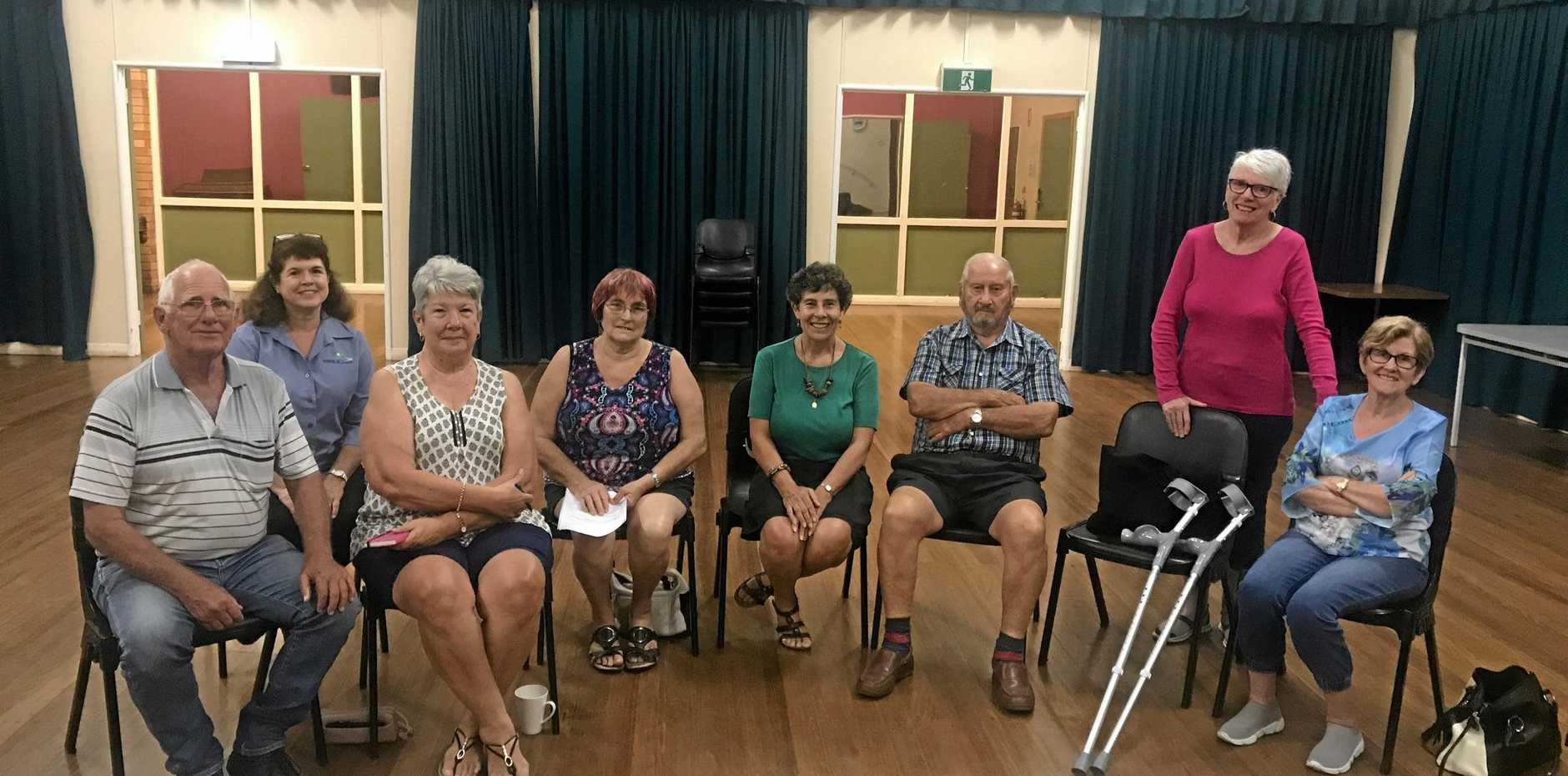 MOVING FORWARD: Moira Thompson (centre) received positive feedback on her idea of a Wall of Fame in Biggenden.