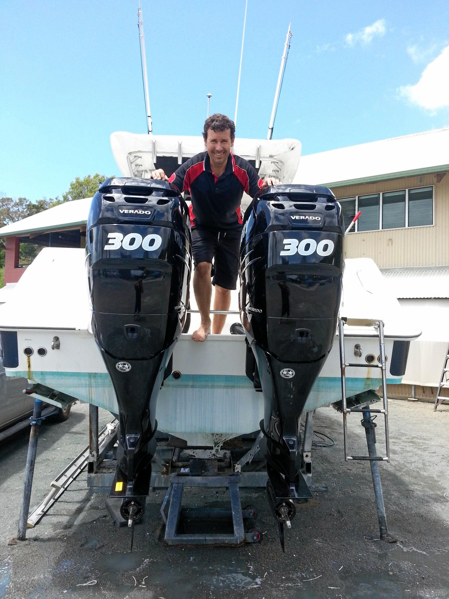 SELF-PROPELLED: Glen Sainsbury has powered into business and started his own marine repair service with his partner of 12-years, Lisa Connor.