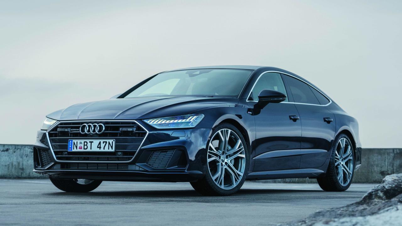 Audi A7 Sportback: In 55 TFSI grade, it's a mouthful, denoting 3.0 V6 turbo