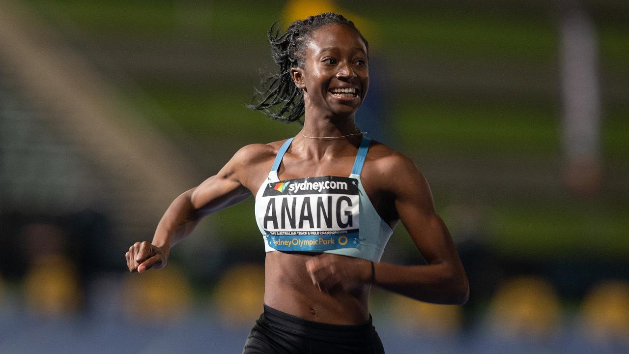 Naa Anang claimed the 100m and long jump double in an Australian first. Picture: AAP
