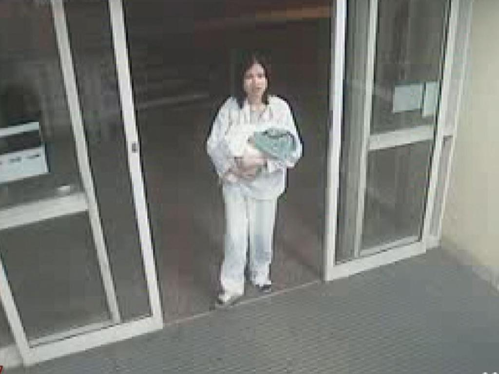The mother left her at 1.37am. Picture: A Current Affair
