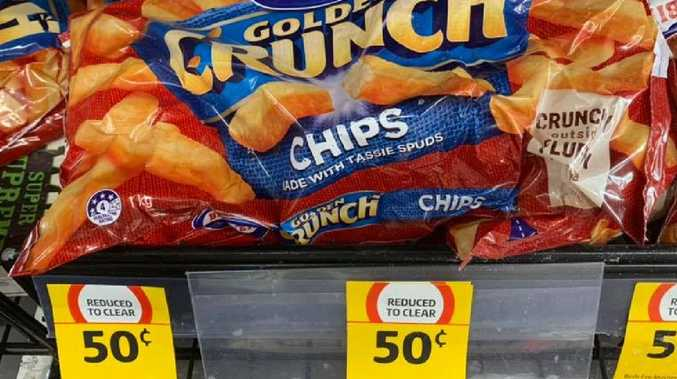 Coles has slashed the price of its Birds Eye frozen chips to just 50 cents.