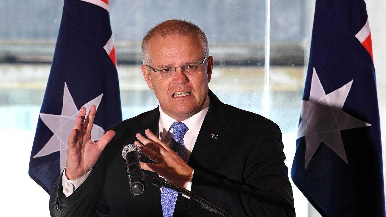 Australian Prime Minister Scott Morrison says farmers should sue animal activists. Picture: AAP Image/Dave Hunt