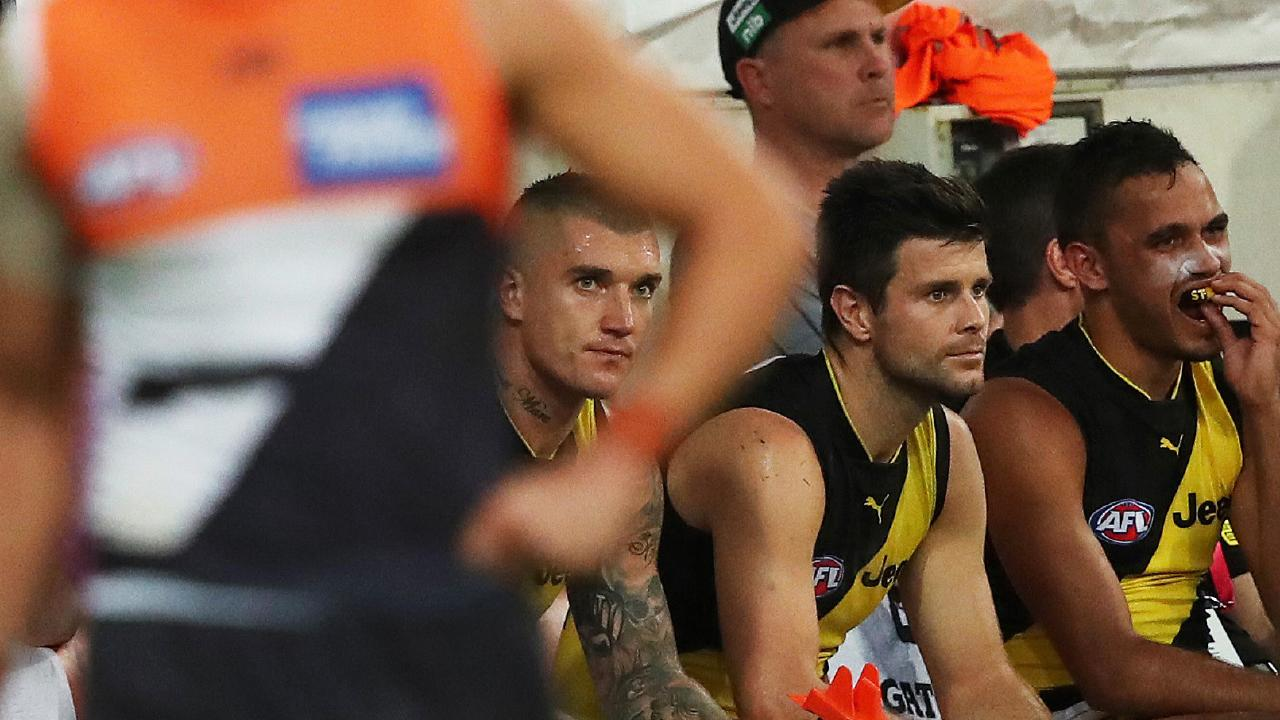 Dustin Martin may have to get used to sitting on the bench in the next two weeks.