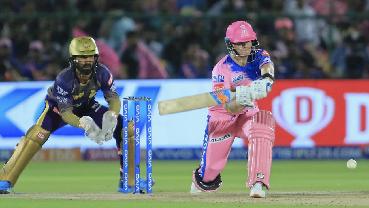 Steve Smith finished unbeaten on 73 for the Rajasthan Royals. Picture: AP Photo/Vishal Bhatnagar