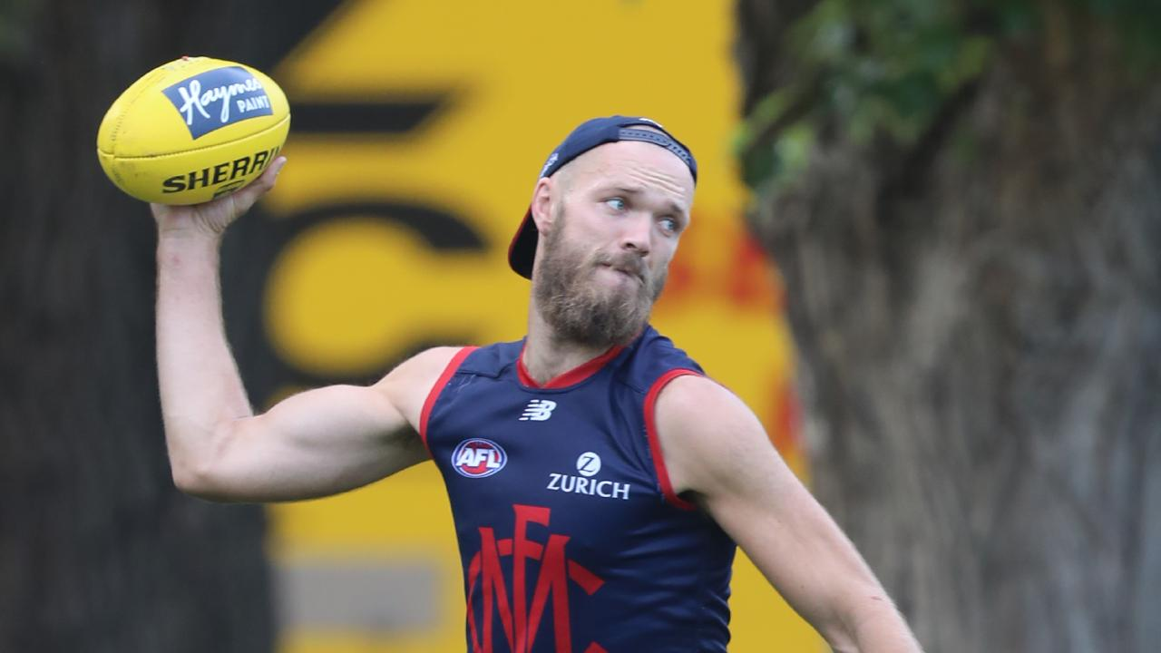 Max Gawn keeps producing top scores despite Melbourne's early struggles. Picture: Alex Coppel.