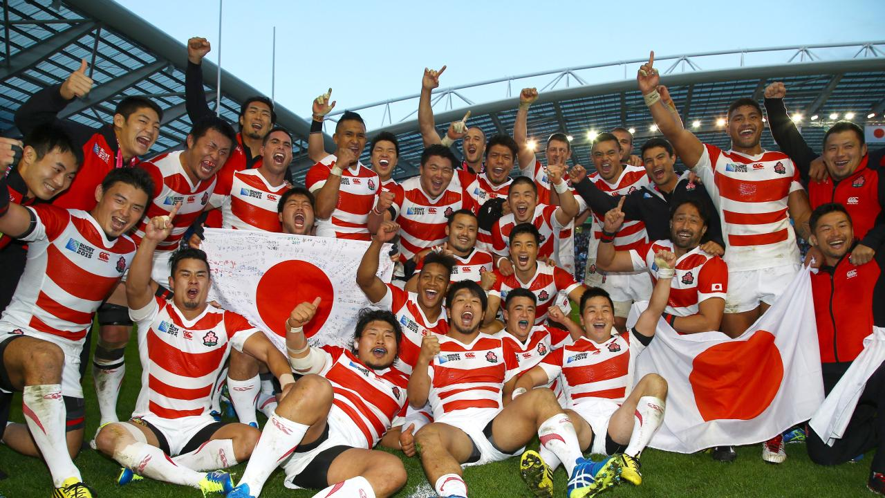 Japan shocked the world after beating South Africa at the 2015 Cup. Picture: Getty