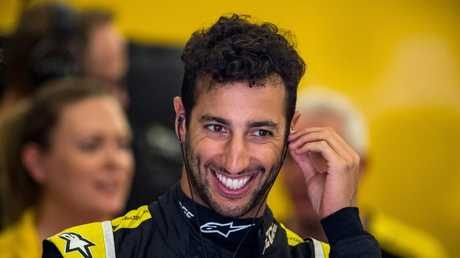 Despite the tough start, nothing can wipe the smile from Ricciardo's face.