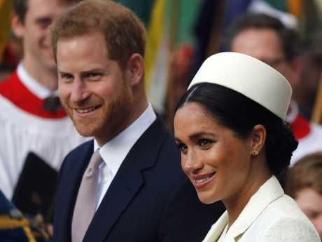 Meghan and Harry. meghan has said she's avoiding social media. Picture: AP