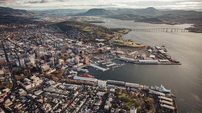 Aerial view of Hobart. Picture: Jarrad Seng