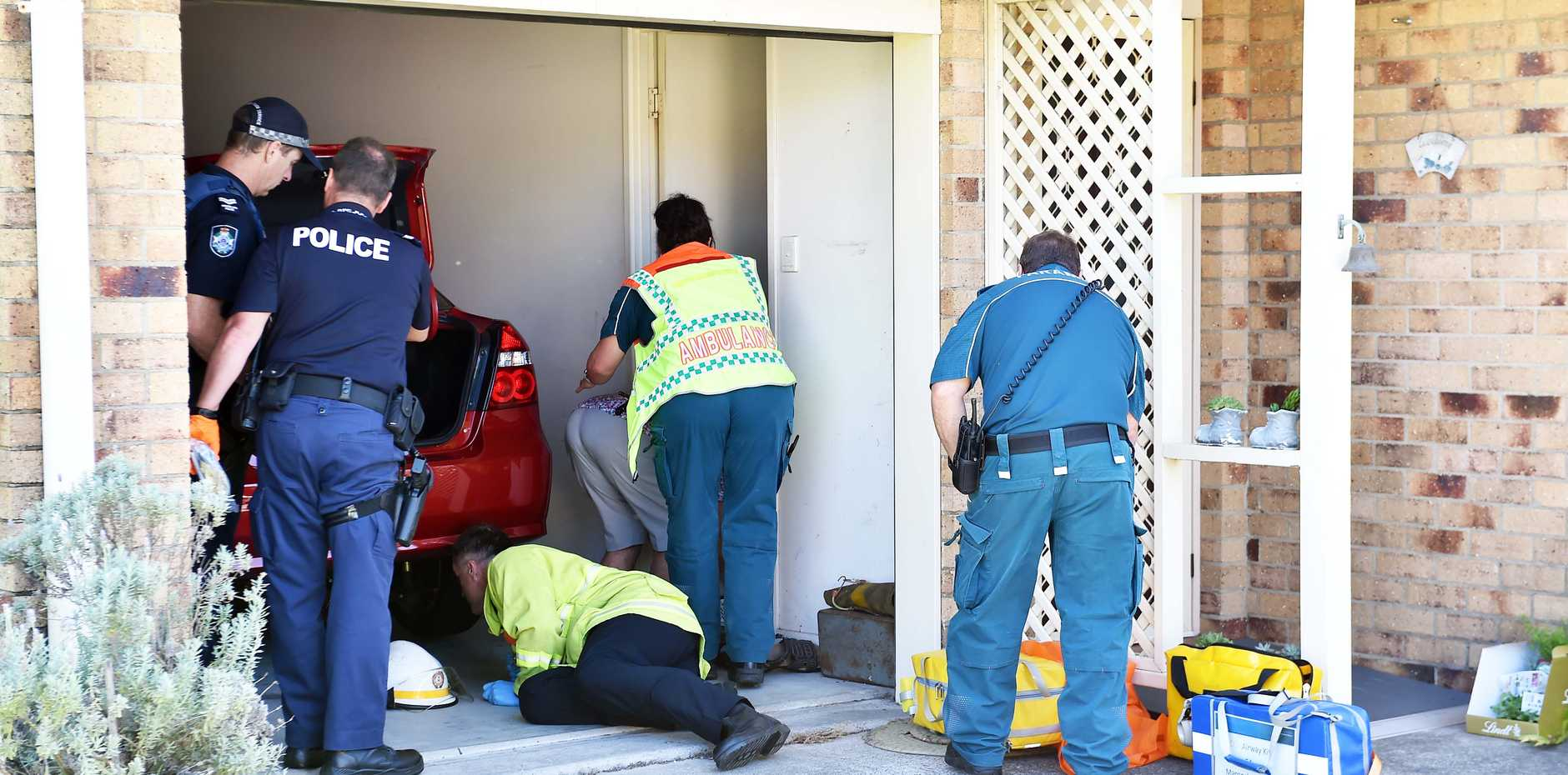 A man in his 90s has been seriously injured in a crash at Buddina, where he was trapped underneath his vehicle for some time.