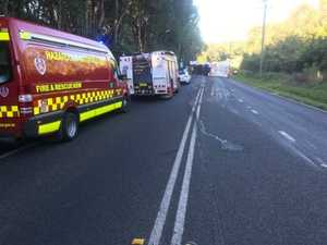Bruxner Highway still affected after truck rollover
