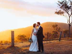 Couple's picturesque wedding