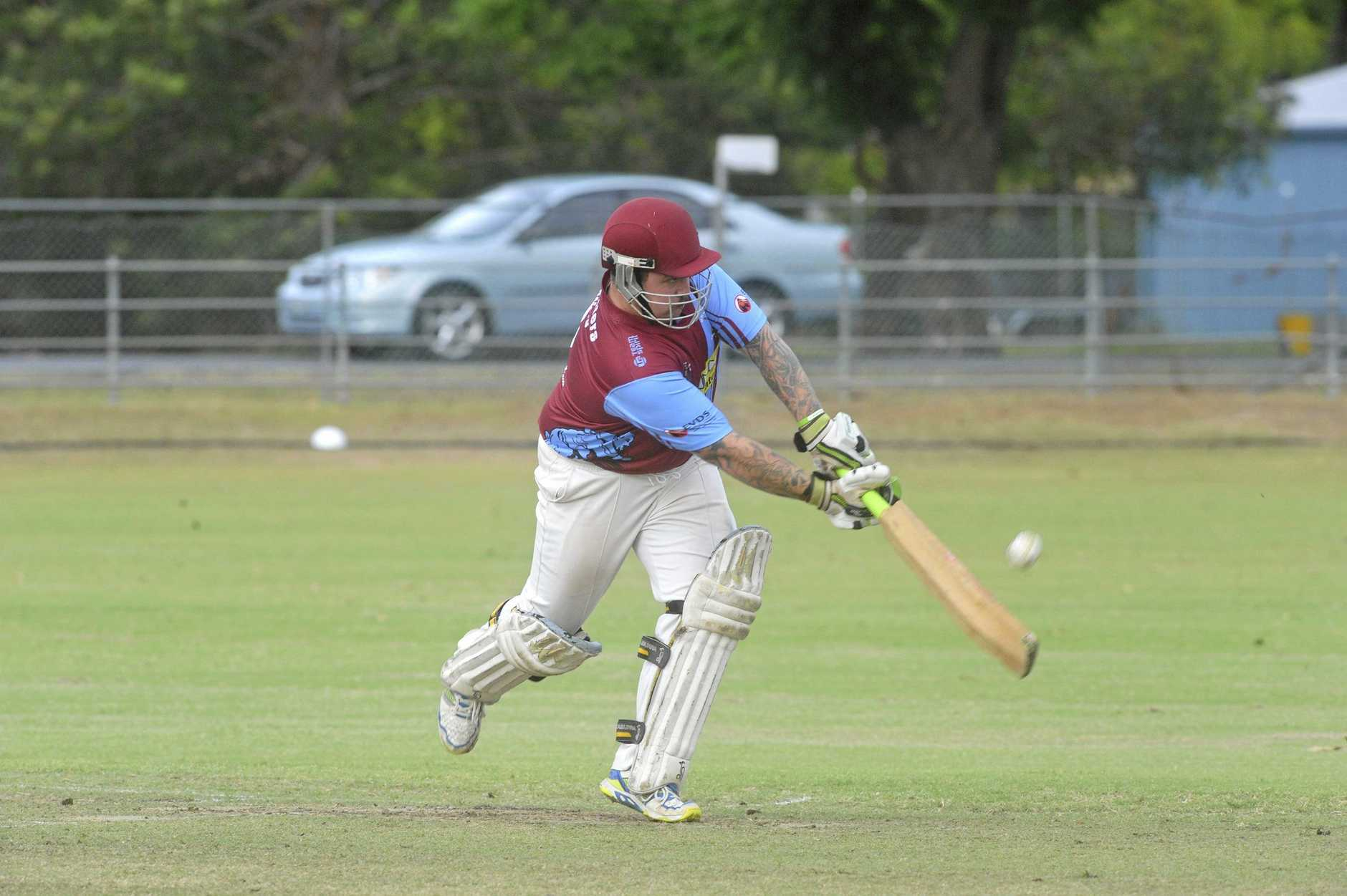 Beau Sevil flicks into the leg side during the Cleavers Mechanical Night Cricket clash between Brothers and Tucabia Copmanhurst at McKittrick Park.
