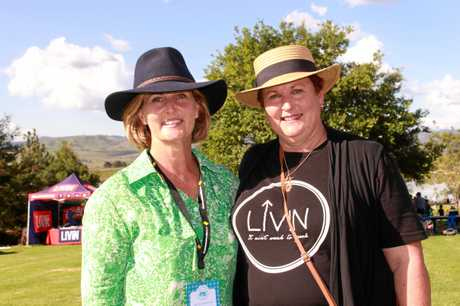 FOR CHARITY: Co-organisers Donna Leigh and Debbie Bradfield at Killarney Picnic Basket Day.