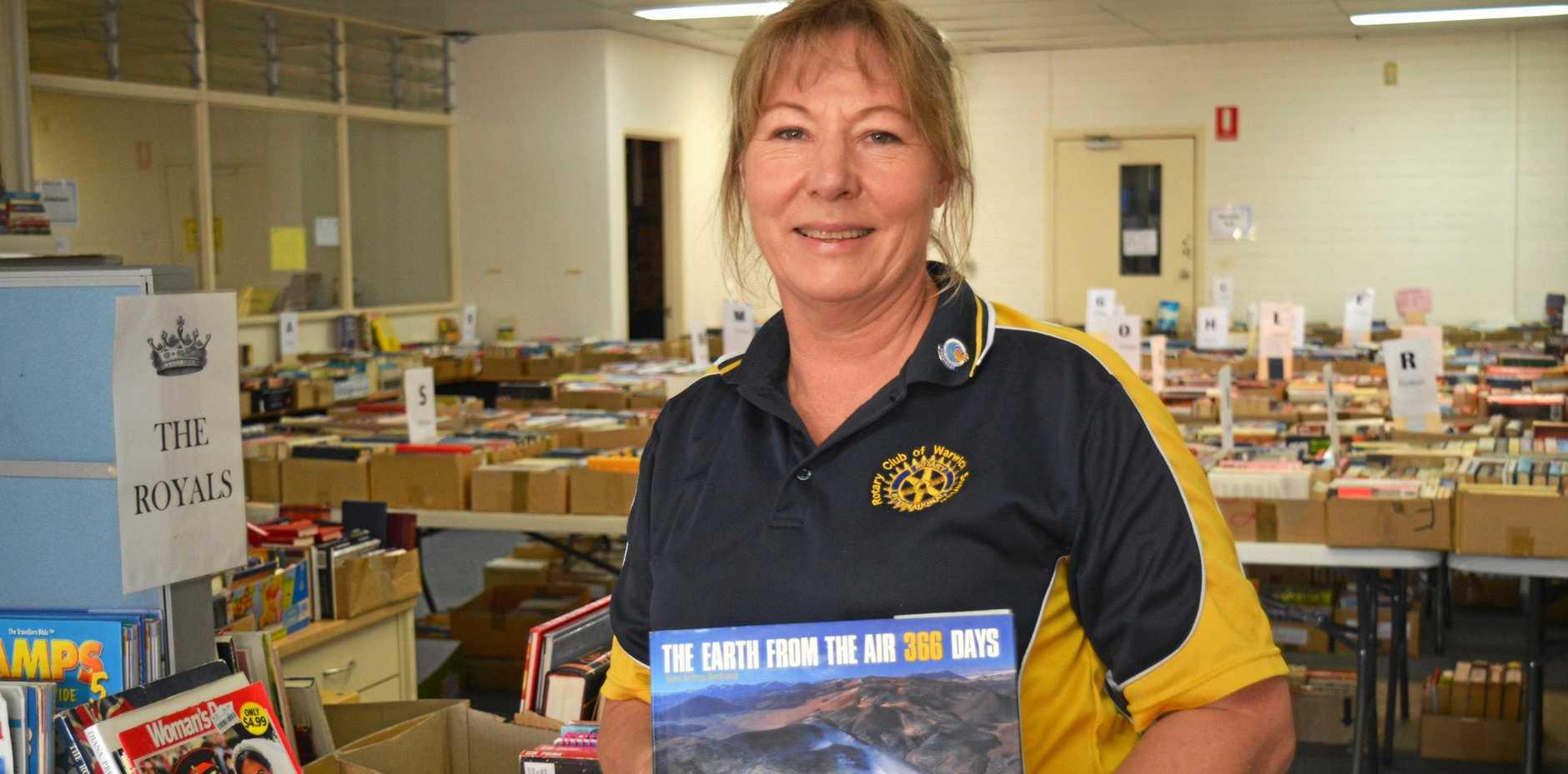 Rotary Club of Warwick Sunrise president Laureen Vanderwolf loves books.