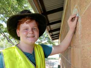 Rocky kids transforming sporting facility into work of art