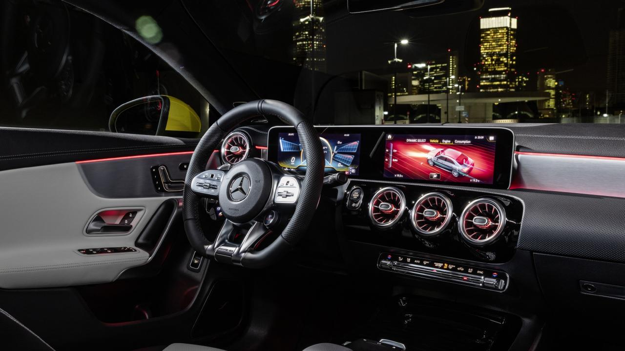 The CLA 35 gets the brand's new display layout.