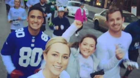 Valentine Holmes is set to marry Natalia O'Toole (backl), the sister of Brianna Morgan (front), the wife of Cowboys star Michael Morgan.