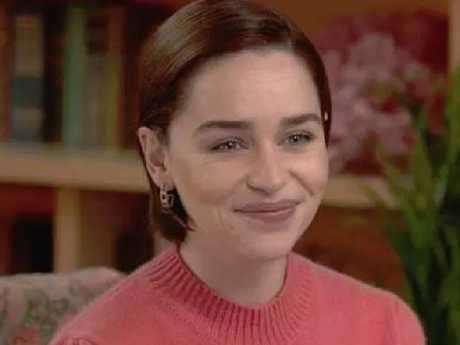 Emilia Clarke went into more detail of her very private health battle on US TV. Picture: CBS
