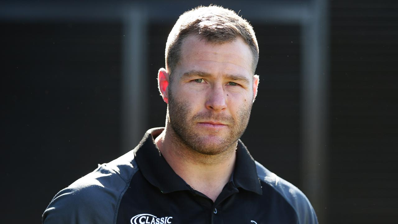 Trent Merrin has returned to Australia, but not to the Dragons. Picture: Brett Costello
