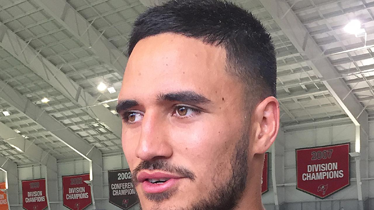 Former NRL player Valentine Holmes is seen during a