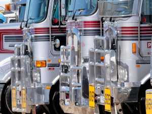 TRAPPED: Truck convoy puts brakes on dangerous driver