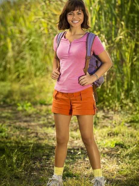 Isabela Moner in character as Dora the Explorer.