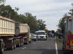 Truck rollover, Carnarvon Highway, Roma